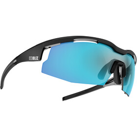 Bliz Sprint M14 Bril, matt black/shiny black/smoke with blue multi